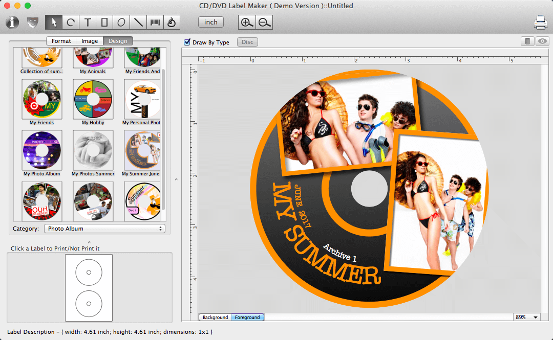 Mac DVD and CD Cover Creator : disc cover design software ...
