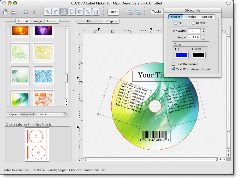 CD Sticker & CD Label Creator