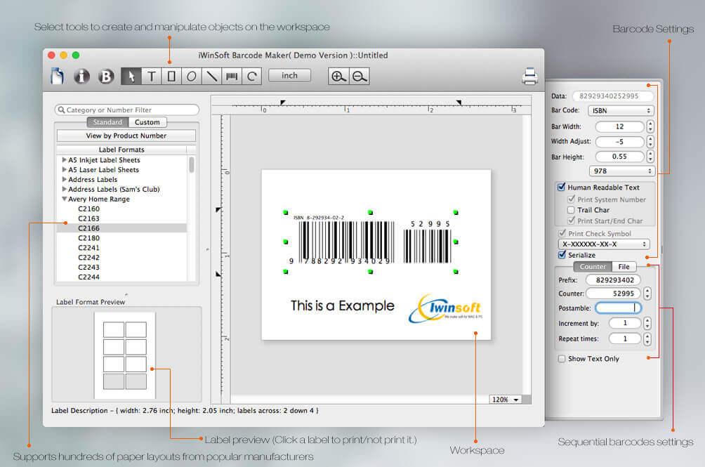 Mac Barcode Maker Barcode Label Software For Create Isbn Upc Ean