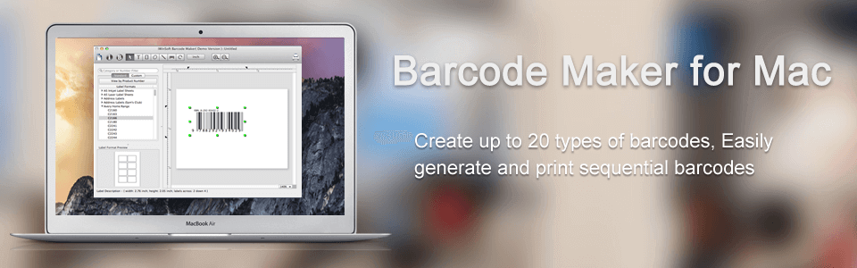 Barcode Maker Mac banner